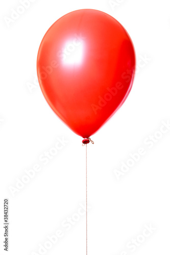 Red balloon isolated on white - 38432720