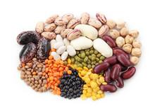 "Постер, картина, фотообои ""Group of beans and lentils"""