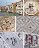 collage with landmarks of Venice poster