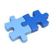 Zwei Puzzle-Teilchen
