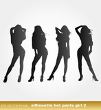 eps Vector image:silhouette hot pants girl 2