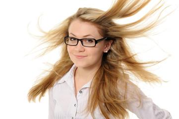 Girl with hair