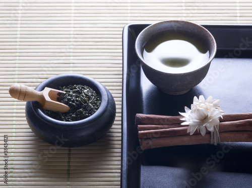 green tea - zen style still life
