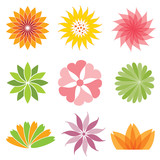 set of flower icon