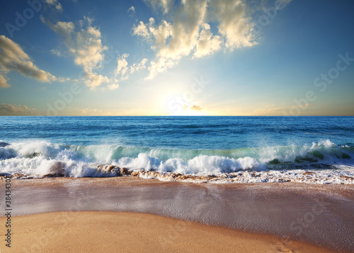Wall mural Sea sunset