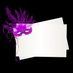 Mardi Gras purple mask