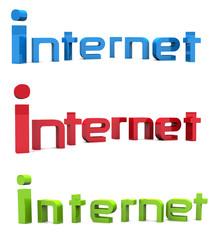 internet text 3d