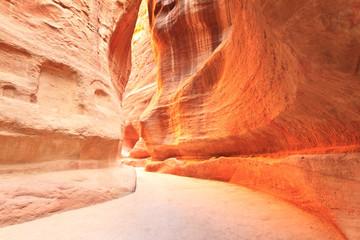 As-Siq Petra, Lost rock city of Jordan.  UNESCO world heritage s