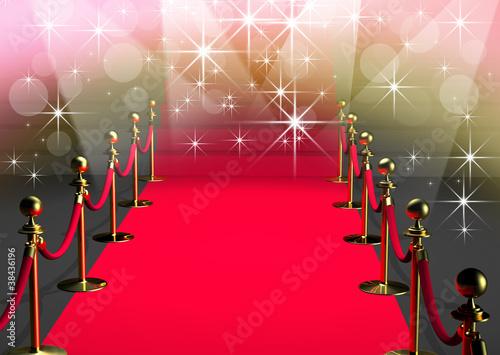 Papiers peints Escalier Tapis rouge cannes - 3D