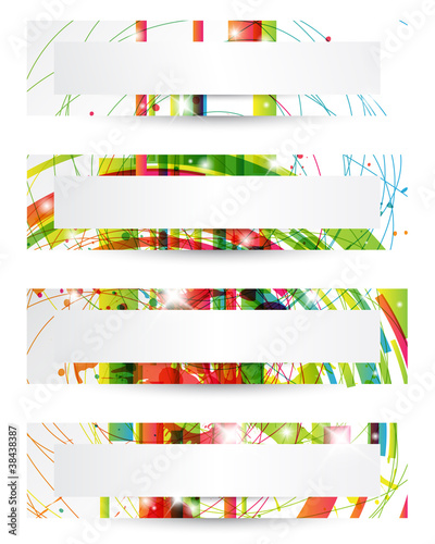 Set di banners - Set of four headers or banners