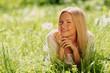 girl with dandelion