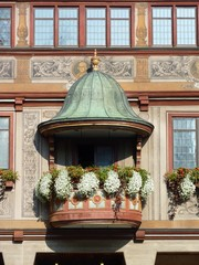 The historic town hall of Tuebingen in Germany