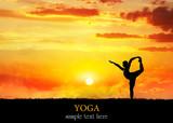 Yoga silhouette Natarajasana dancer pose