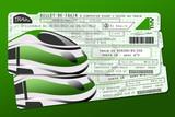 Deux billets de train vert écologie