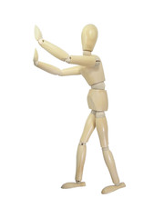 Stop Gesture Wood Puppet