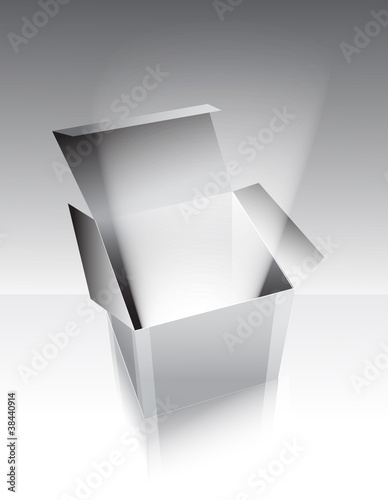 Gray box with light