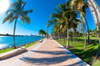 Beautiful park South Pointe in Miami Beach, Florida
