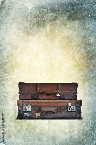 vintage luggage print
