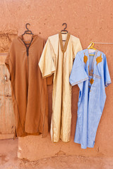 Djellaba - traditional long, loose-fitting unisex outer robe.