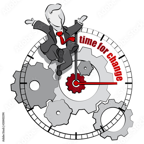 businessman & time for change