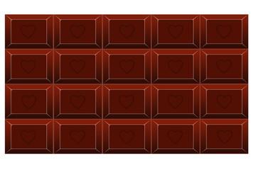 Tafel Schokolade mit Herzchen