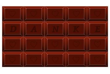Tafel Schokolade als Dank