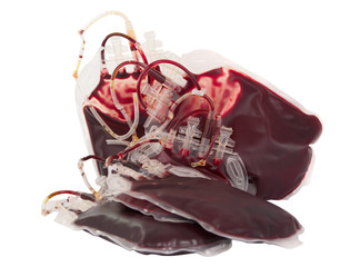 bag of blood isolated