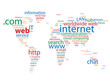 """WEB"" Tag Cloud (http www world map global internet website)"