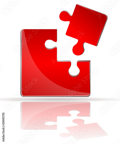 Puzzle 3d in rot