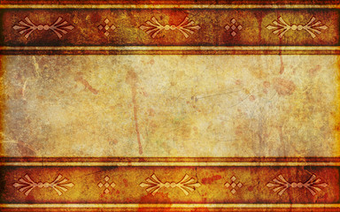 Ancient Paper Background With Design Patterns