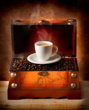 Scrigno con tazzina di caffè
