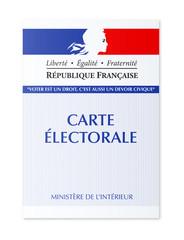 Carte électorale Française en vectoriel