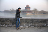 Beautiful woman and the Forbidden City - Beijing / China