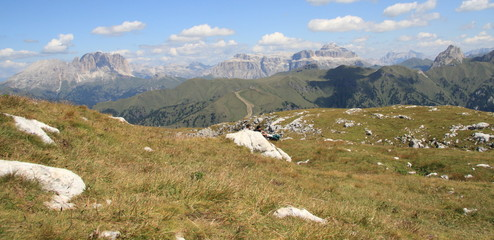 Sella Group and Fassa valley from ELEVEN MOUNTAIN