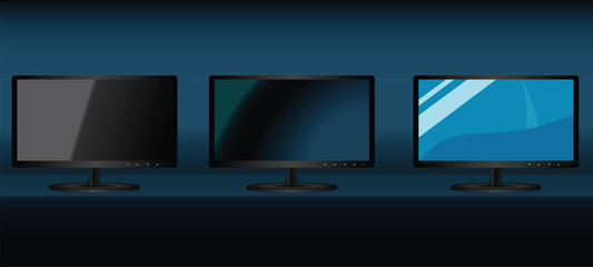 Monitors set