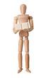 Figurine with two empty text blocks