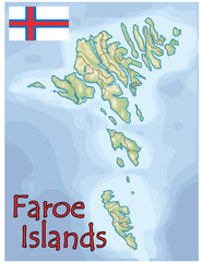 faroe islands europe map flag emblem