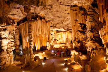 group of tourists visiting Cango Caves, South Africa