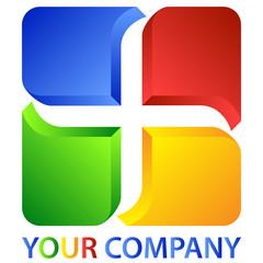 3D Plus-Cubic Logo