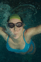 Woman swimmer underwater
