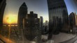 HDR Timelapse Fisheye View through Skyscraper Window