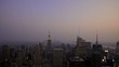 Timelapse View Sunset New York City