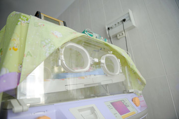 Incubator for newborns at clinic