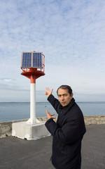 énergie renouvelable au bord de la mer