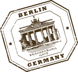 Stamp with words Berlin, Germany inside, vector