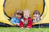 Children in tent