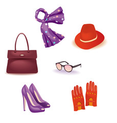 Vector set of accessories for Women