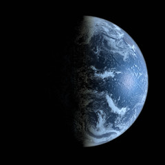 3d Earth Model in deep space