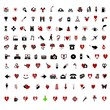 Over 100 Stylish Valentine themed icons