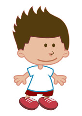 Smiling boy cartoon